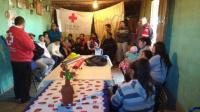Por las intensas lluvias, la Cruz Roja asistió a 50 familias de Valle Fértil