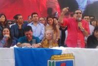 Impugnación a Carlos Menem: protestaron en La Rioja para pedir por su candidatura