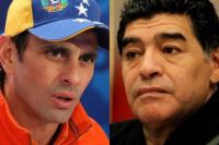 Capriles les contestó a Maradona: