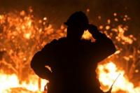 Incendio en Rawson: corre peligro la vida de un menor