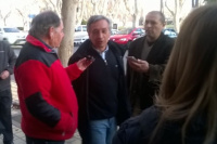 Roberto Basualdo, uno de los primeros candidatos en votar