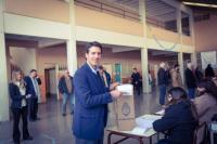 Martín Turcumán resaltó el trabajo y el esfuerzo realizado luego de emitir su voto