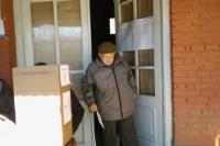 Con 89 años, llegó hasta la escuela Obreros del Porvenir para emitir su voto