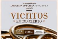 Vientos en concierto: orquesta sinfónica de la Universidad Nacional de San Juan