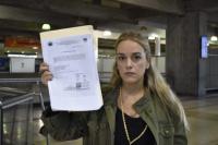 Lilian Tintori, esposa del opositor López, no puede salir de Venezuela
