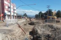 Avenida Central: avanza el ensanche de la obra