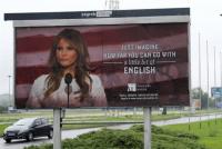 Una publicidad con la imagen de Melania Trump enfureció a la primera dama de EE.UU.
