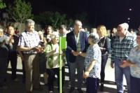 Inauguraron una obra de alumbrado público en Rivadavia