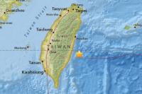 Un terremoto de 5,7 sacudió las aguas de Taiwán