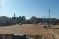 Empezaron las tareas de limpieza en el Parque tras los festejos