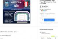 Comenzó la reventa de entradas para Argentina-Perú