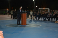 Gran inauguración de un polideportivo en Rivadavia
