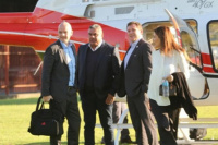 El Presidente de la FIFA Gianni Infantino, aterrizó en Buenos Aires