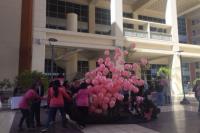 Emotiva suelta de globos por el Día Internacional del Cáncer de Mama