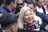 Votó Carrió y dijo que reza por Santiago Maldonado