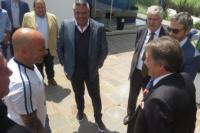 Sampaoli y Chiqui Tapia estuvieron con el embajador ruso