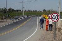 Albardón: finalizaron el puente que comunica El Rincón con Las Tapias