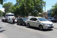 Múltiple colisión en Rivadavia