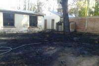 Se incendió parte de una escuela en Calingasta: no hubo heridos