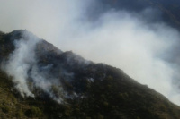 Bomberos del Gran San Juan partieron a Valle Fértil a sofocar un incendio