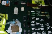 En un operativo, Gendarmería encontró drogas y armas