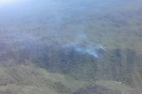 Pánico por un gran incendio forestal en las sierras de Valle Fértil