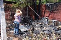 Incendio en una casa de la Villa América