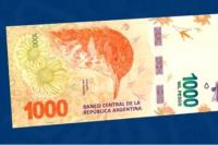 El Banco Central presentó el billete de 1.000 pesos