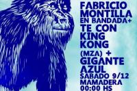 Fabricio Montilla Té con King Kong Gigante Azul en Mamadera