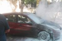 Un automóvil sufrió un incendio en el centro sanjuanino