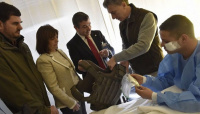 Macri visitó a los policías heridos durante los incidentes en el Congreso