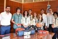 Gobierno: autoridades se reunieron con jóvenes Scout