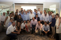Eduardo Cáceres estuvo presente en la reunión de fin de año de Marcos Peña