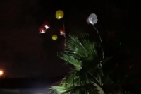Dejó de lado la pirotecnia para disfrutar el Año Nuevo con globos