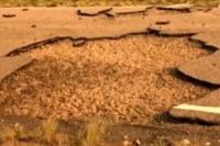 Un remolino rompió una ruta en San Rafael