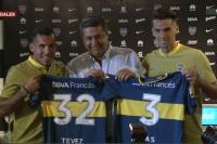 Carlos Tevez y Emmanuel Mas fueron presentados en Boca