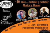 40 años cantados y contados en el Café del Auditorio