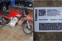 Lo detuvieron por circular en moto con un carnet falsificado