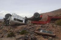 Un camión volcó con partes millonarias de un telescopio