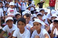 Nueva entrega de kits escolares, ahora en las colonias de Ullum y Zonda
