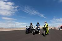 Motoqueros probaron la primera capa asfáltica del Autódromo