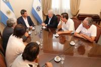Uñac se entrevistó con representantes de la Cámara de Vitivinícola