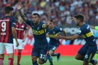 Boca no aprovechó la superioridad numérica y empató con San Lorenzo