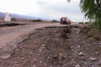 Lluvias intensas afectaron a Calingasta