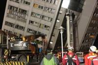 Terremoto en Taiwán: edificios colapsados, 2 muertos y 202 heridos