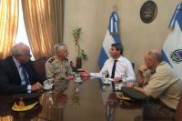 El Comandante de la VIII Brigada de Montaña visitó al gobernador Uñac