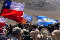 Con gran emoción, la expedición llegó al límite con Chile