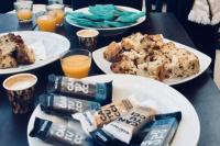 El desayuno de la candidatas