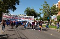 Mañana de reclamos en el Centro Cívico: acampe y movilización