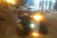 Pocito: Cayeron con su camioneta en un zanjón y fueron trasladadas de urgencia al hospital